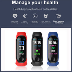 Bluetooth Smart Bracelet Digital Sport Wristband For Heart Beat - JustgreenBox