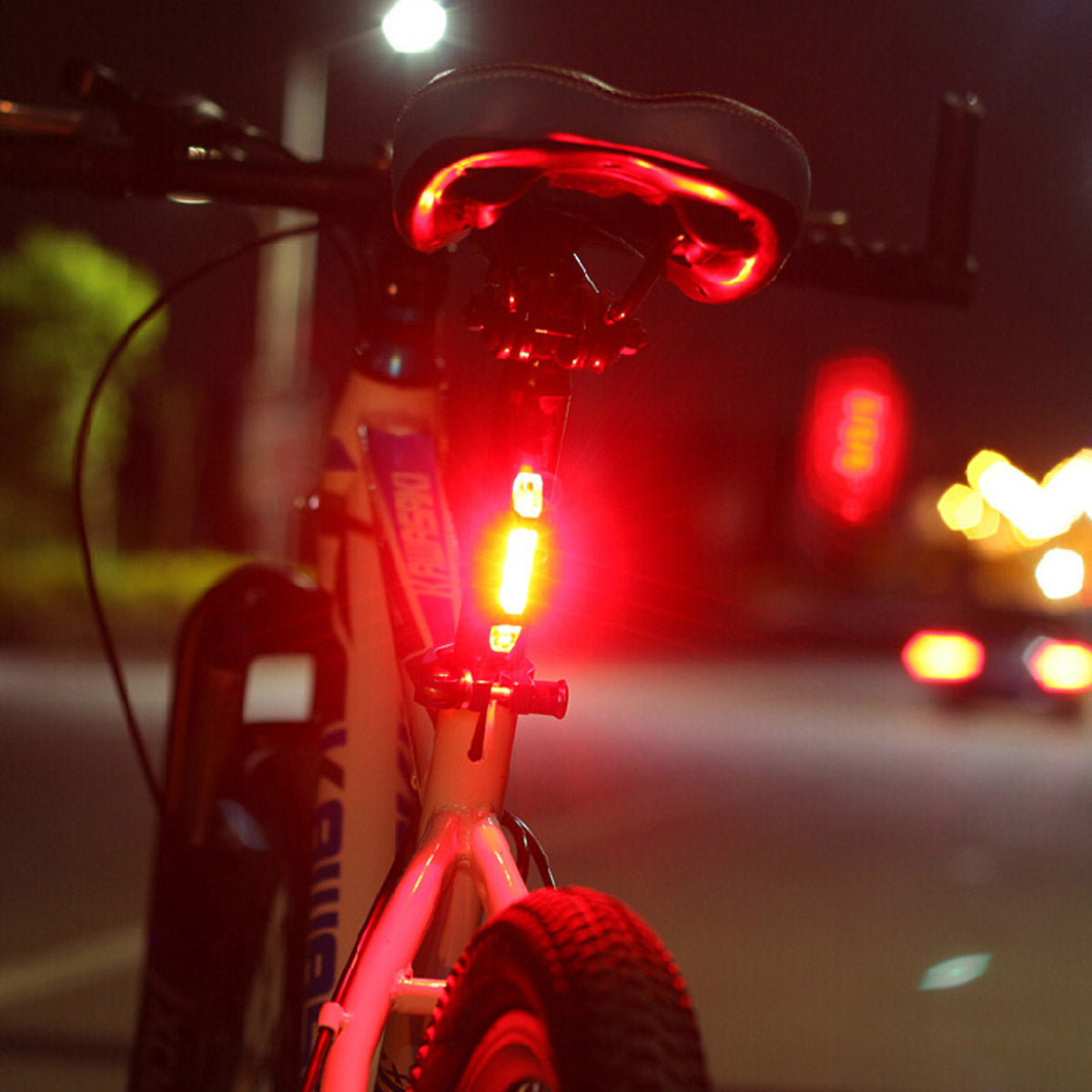Portable USB Rechargeable Bike Tail Rear Safety Warning Light