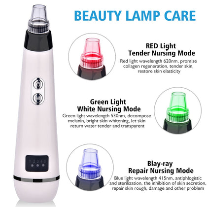 Blackhead Remover Face Deep Pore Cleaner Acne Pimple Removal Vacuum Suction Facial SPA Diamond Beauty Care Tool Skin - JustgreenBox