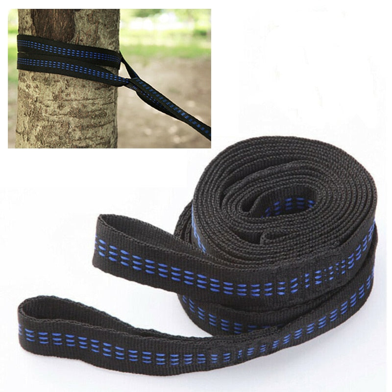 Hammock Strap 200cm Tree Hanging Spare Part Outdoor Aerial Yoga 200KG Load 2pcs - JustgreenBox