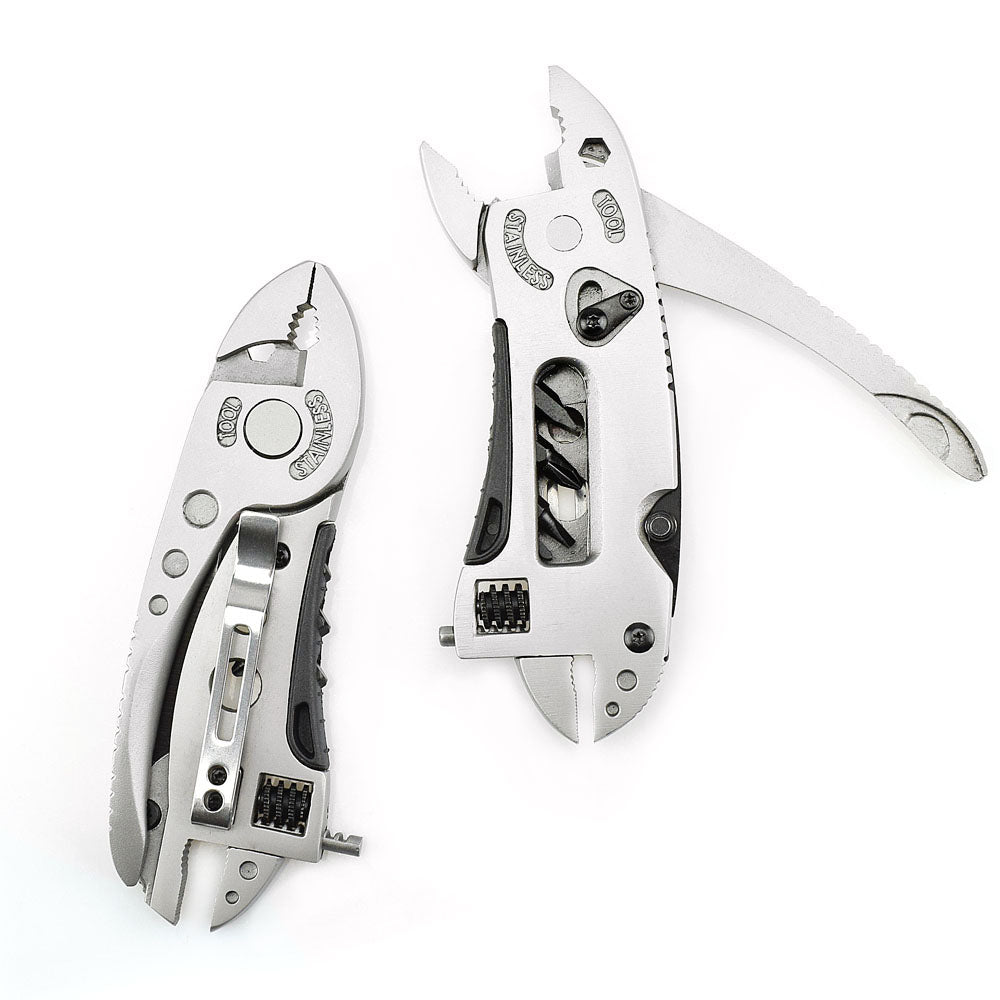 Multitool Pliers Pocket Knife Screwdriver Set Kit Adjustable Wrench Jaw Spanner Repair Survival Hand Mini (Silver Pliers 4.5 Inches) - JustgreenBox