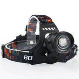 LED Headlamp High Power 5000LM XM-L2 Headlight 5-Mode Zoom Head Torch 18650 Rechargeable POWER BANK Flashlight - JustgreenBox