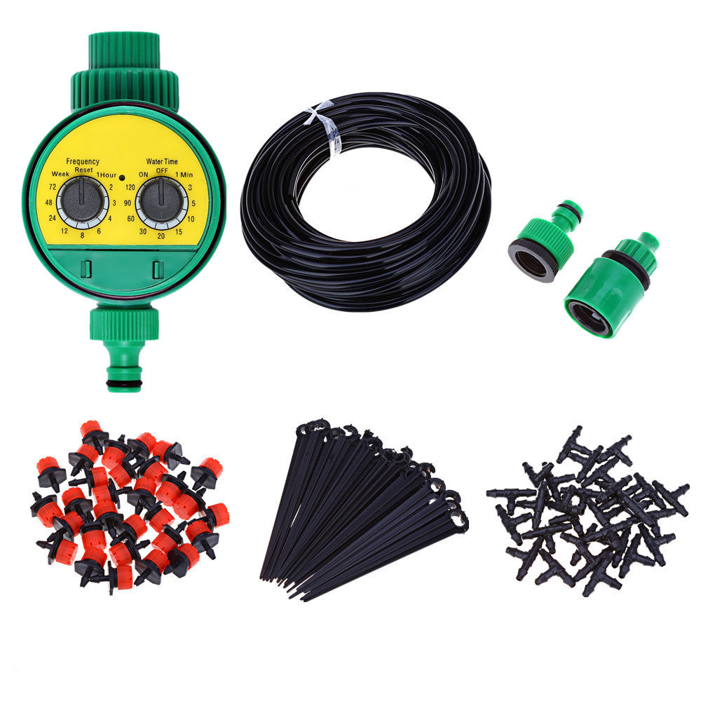 Micro Drip Irrigation System Plant Automatic Spray Greenhouse Watering Kits Garden Hose Adjustable Dripper Sprinkler