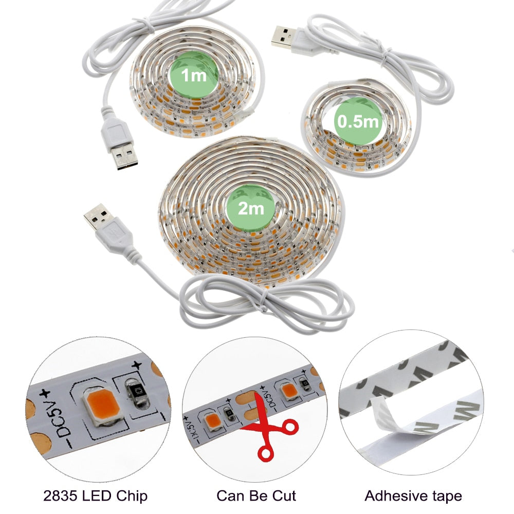 LED Grow Light Full Spectrum USB Strip Lights Chip Phyto Lamps For Greenhouse Hydroponic Plant Growing - JustgreenBox
