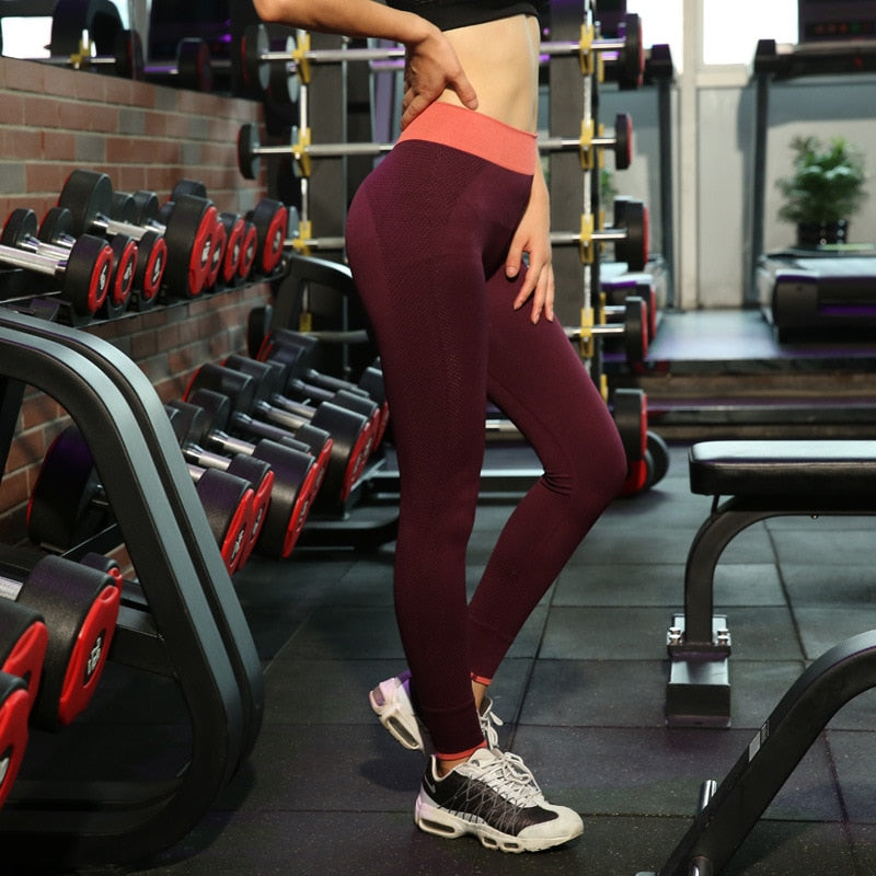Sport Leggings High Waist Sports Pants Gym Clothes Running Training Tights Women Sports Leggings Fitness Yoga Pants