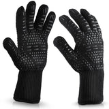 BBQ Gloves 300-500 Centigrade Extreme Heat Resistant Lining Cotton Oven for Cooking Flame-retardant Anti-scalded