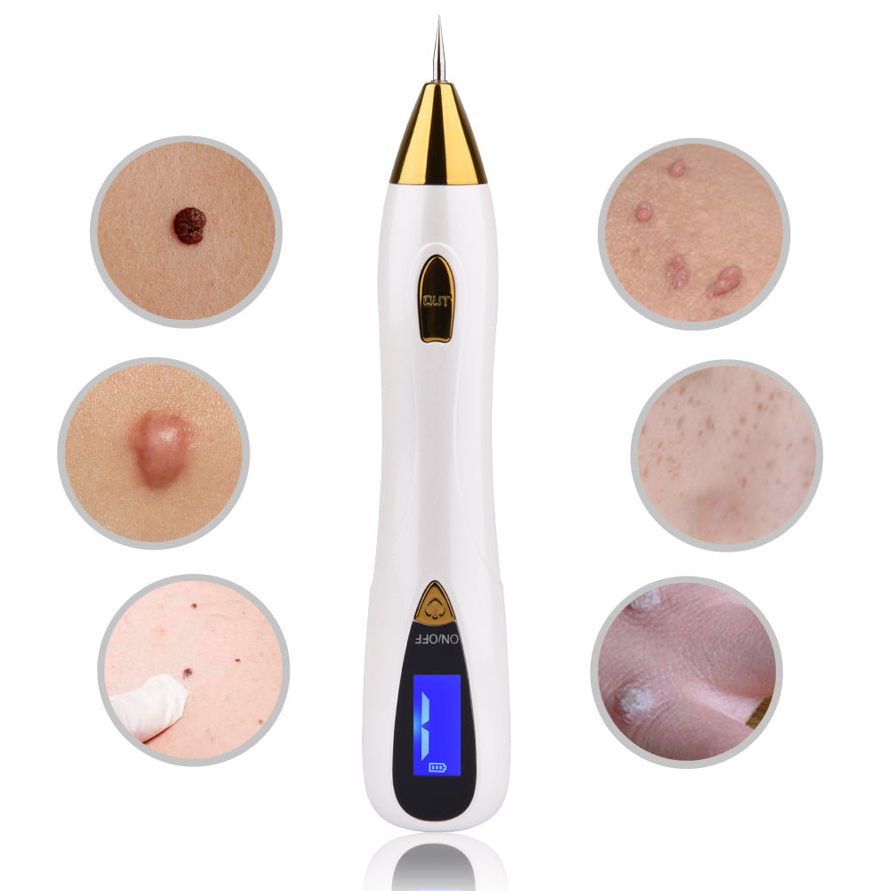 Skin Care Laser Mole Tattoo Freckle Removal Pen LCD Sweep Spot Removing Wart Corns Dark Remover Salon Beauty Machine - JustgreenBox