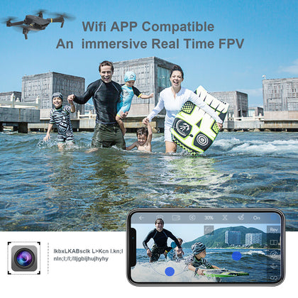 WIFI FPV With Wide Angle HD Camera High Hold Mode Foldable Arm RC Quadcopter Drone - JustgreenBox