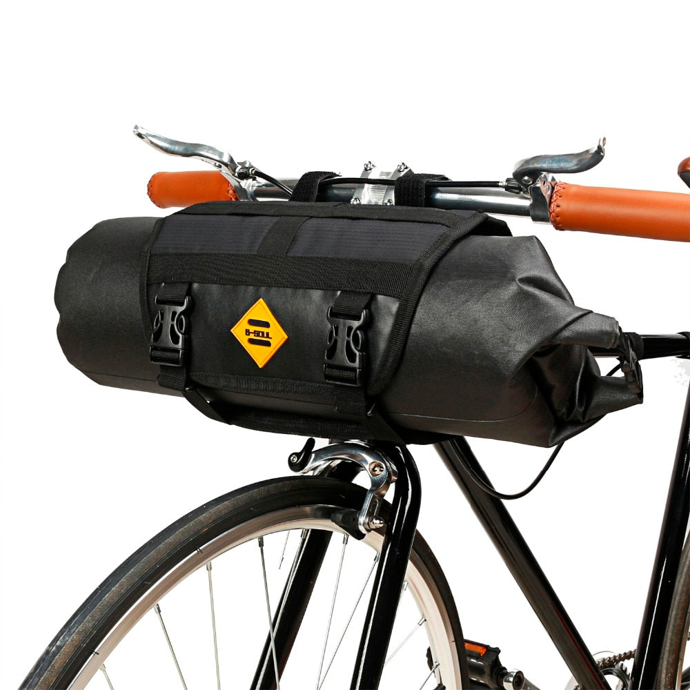Waterproof bike Front Frame Handlebar Tube Basket Bag