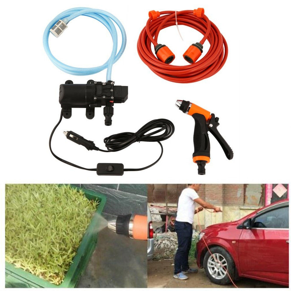 High Pressure Cleaning Kit 70W 12V DIY Auto Washing Tools Set Water Saving Car Accessories