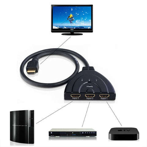 3-in-1 HDMI Switcher - JustgreenBox