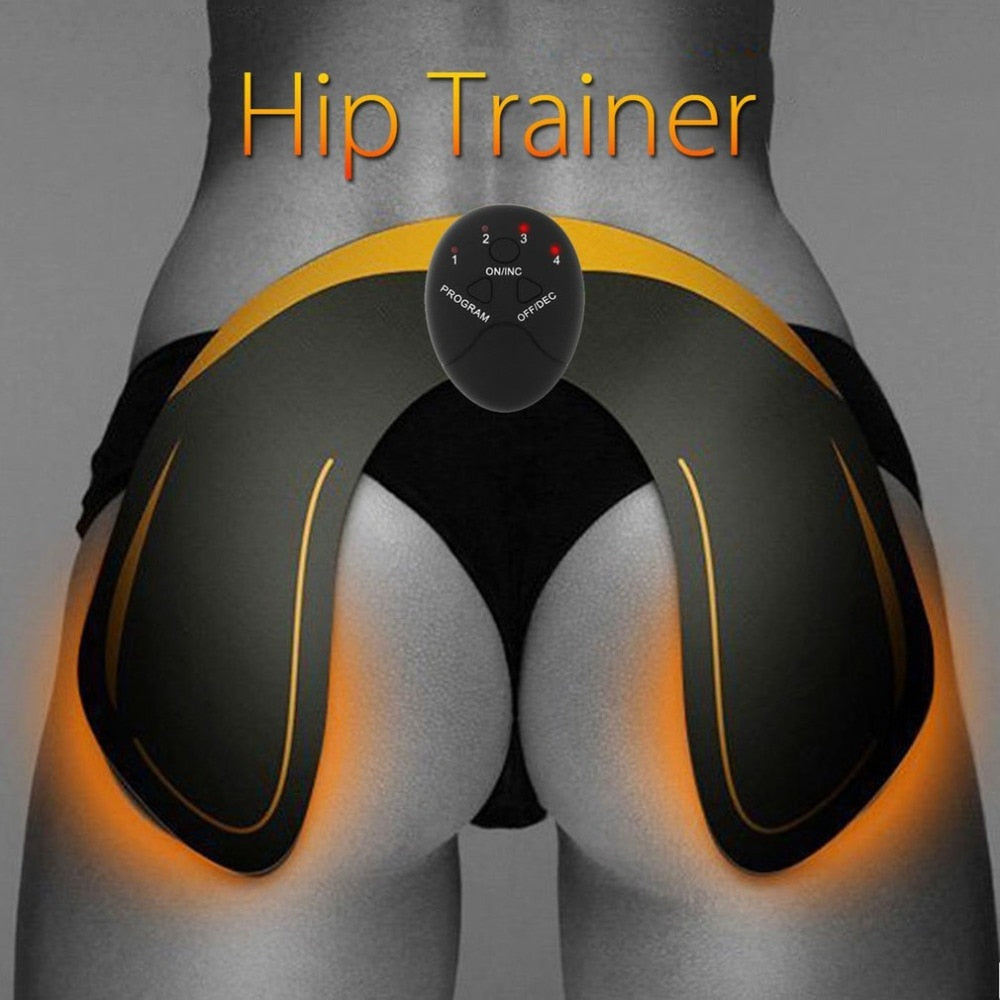 Battery Powered EMS Waist Hip Trainer Electric Vibration Muscle Stimulator Buttock Tighter Lifter Massager Machine New - JustgreenBox