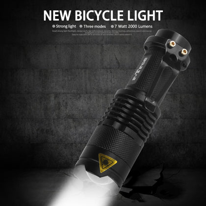 7 Watt 2000 Lumems 3 Mode LED Front Light For Bicycle - JustgreenBox