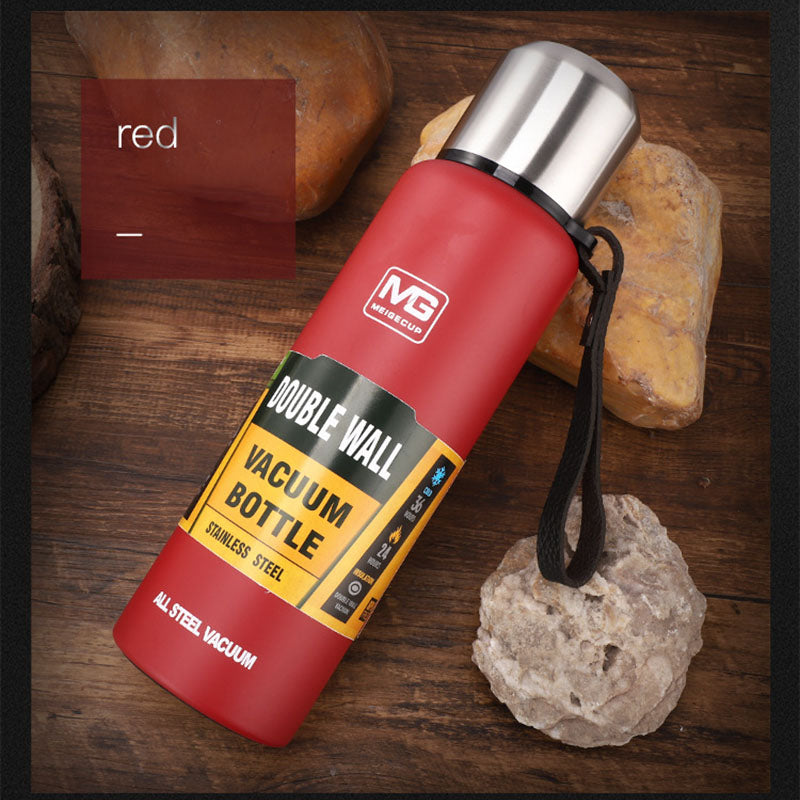 Outdoor Thermos Bottle Portable Large Capacity Insulated Cup Military Style Vacuum Flask - JustgreenBox