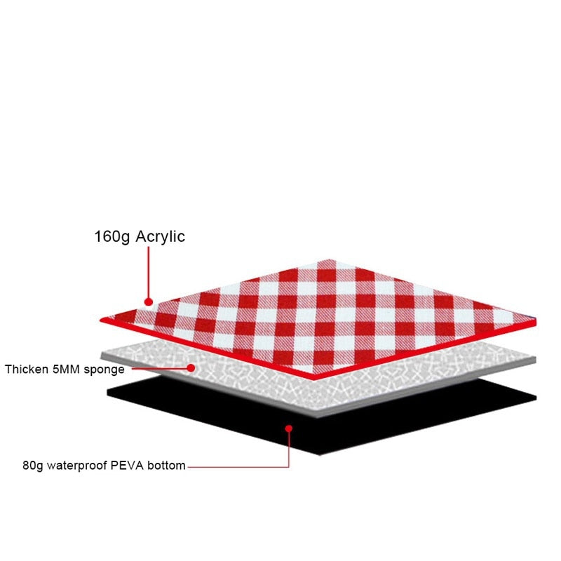 Soft Breathable Thicken Pad Blanket for Outdoor Camping Picnic Mat