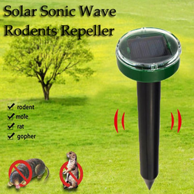 Outdoor Ultrasonic Pest Repeller Garden Mole Repellent Solar Power Snake Bird Mosquito Mouse Control Yard - JustgreenBox