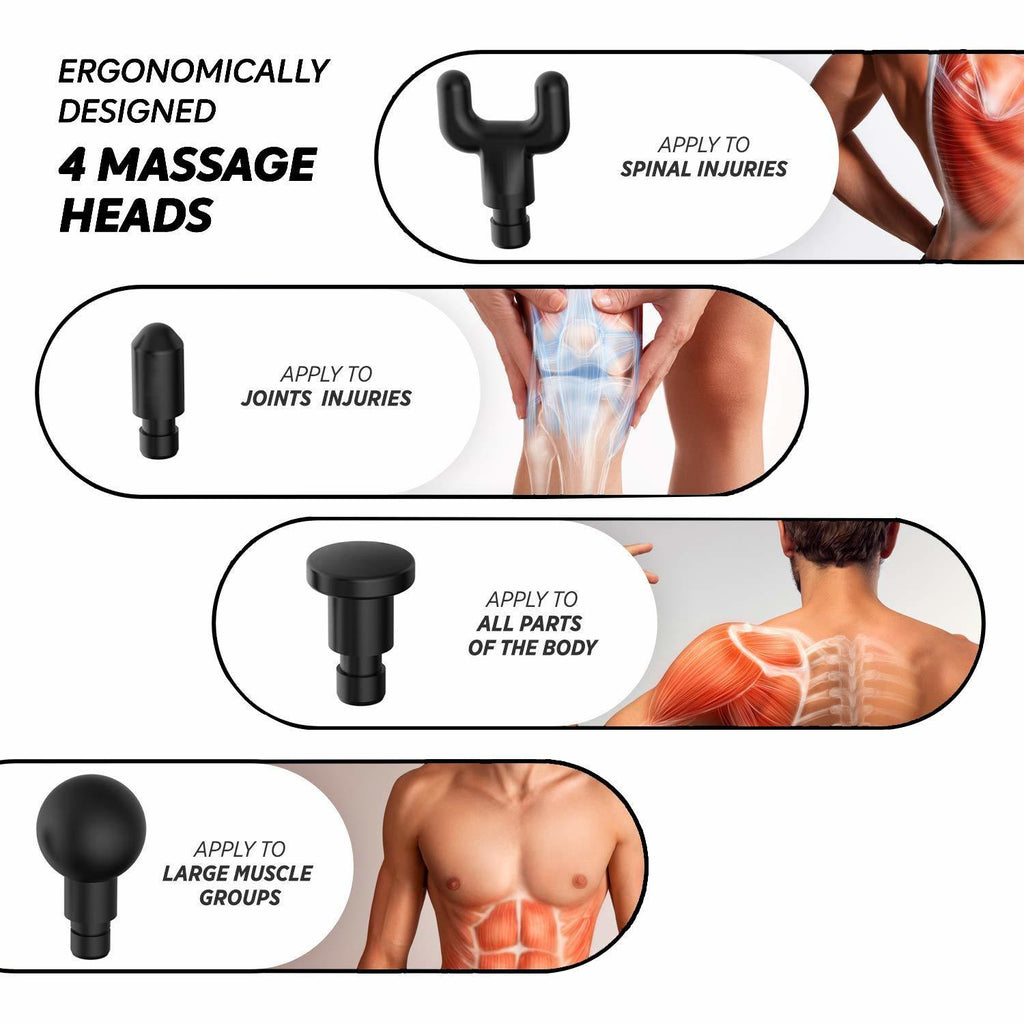 Muscle Massage Gun Deep Tissue Massager Therapy Gun Exercising Muscle Pain Relief Body Shaping - JustgreenBox