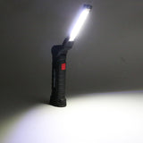 Portable 5 Mode COB Flashlight Torch USB Rechargeable LED Work Lights Magnetic Lanterna Hanging Hook Lamp - JustgreenBox