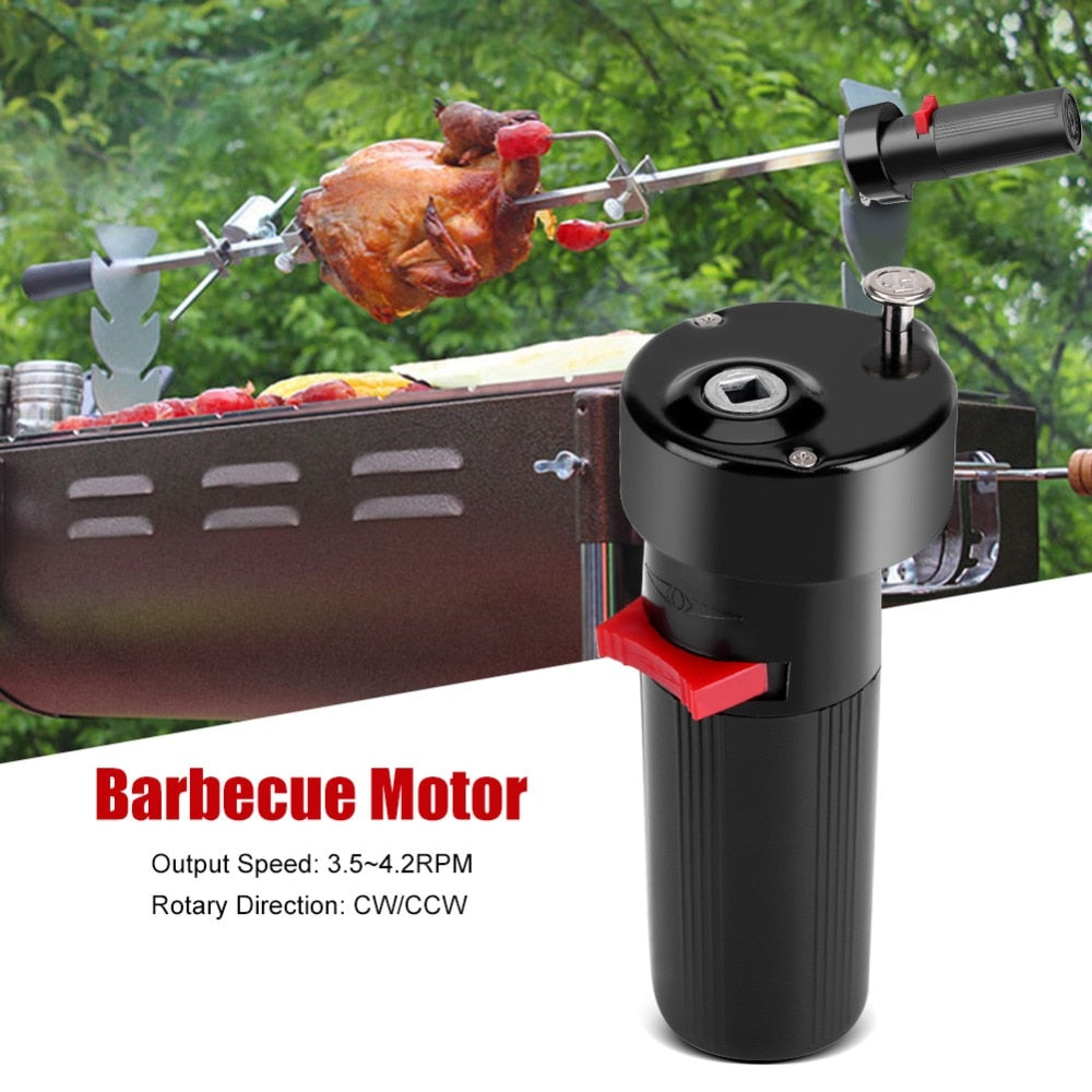 Electric BBQ Motor Metal Oven Roasted Beef Turkey Rotisserie Forks Spit Charcoal Chicken Grill For Outdoor Camping Cooking Tools - JustgreenBox