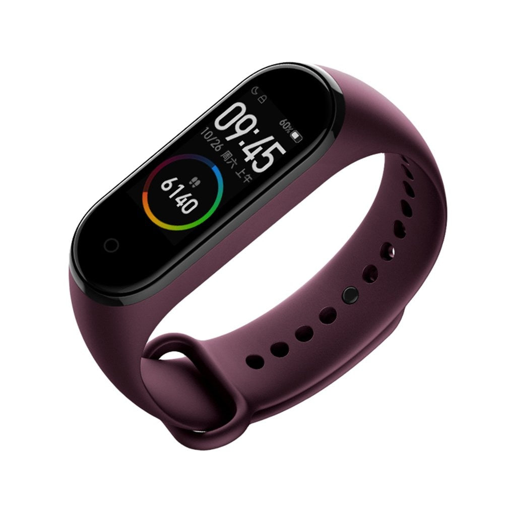 Smart Fitness Tracker Bluetooth Waterproof Smart Bracelet Color AMOLED Screen Smart-band - JustgreenBox