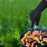 BBQ Gloves 300-500 Centigrade Extreme Heat Resistant Lining Cotton Oven for Cooking Flame-retardant Anti-scalded - JustgreenBox
