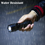 T6 LED Handheld Tactical Flash Zoom Torch Light Camping Lamp For 18650 Rechargeable Battery