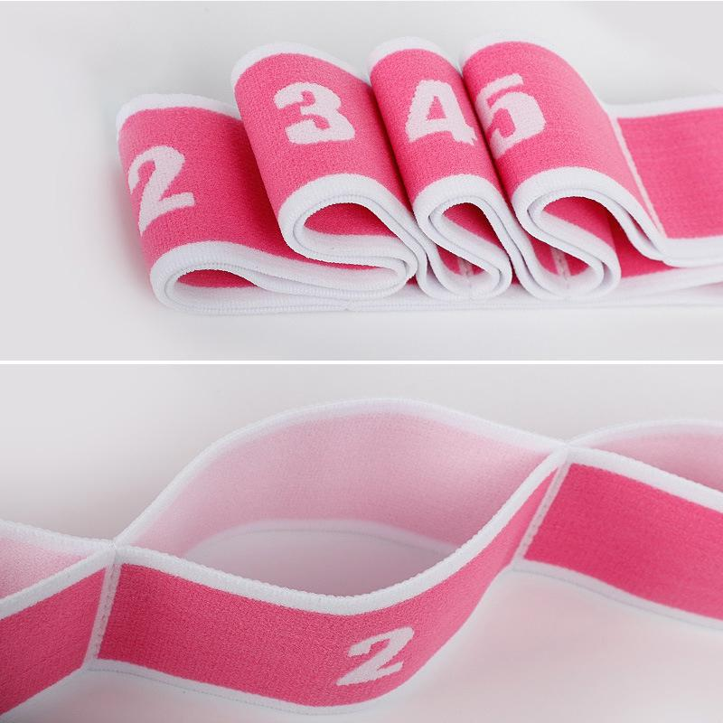 Yoga Pull Strap Belt Polyester Latex Elastic Latin Dance Stretching Band Loop Pilates GYM Fitness Exercise Resistance Bands - JustgreenBox