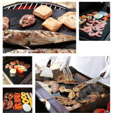 2pcs Non-stick Baking Mat Teflon Cooking Tray Grilling Heat Resistance Easy To Clean Kitchen Tools (Black) - JustgreenBox