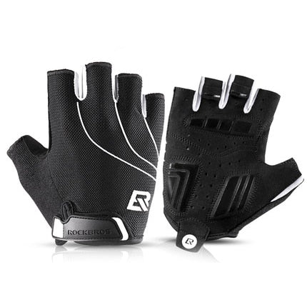 Cycling Anti Slip Sweat Men Women Half Finger Breathable Shock Sports MTB Bike Bicycle Glove - JustgreenBox