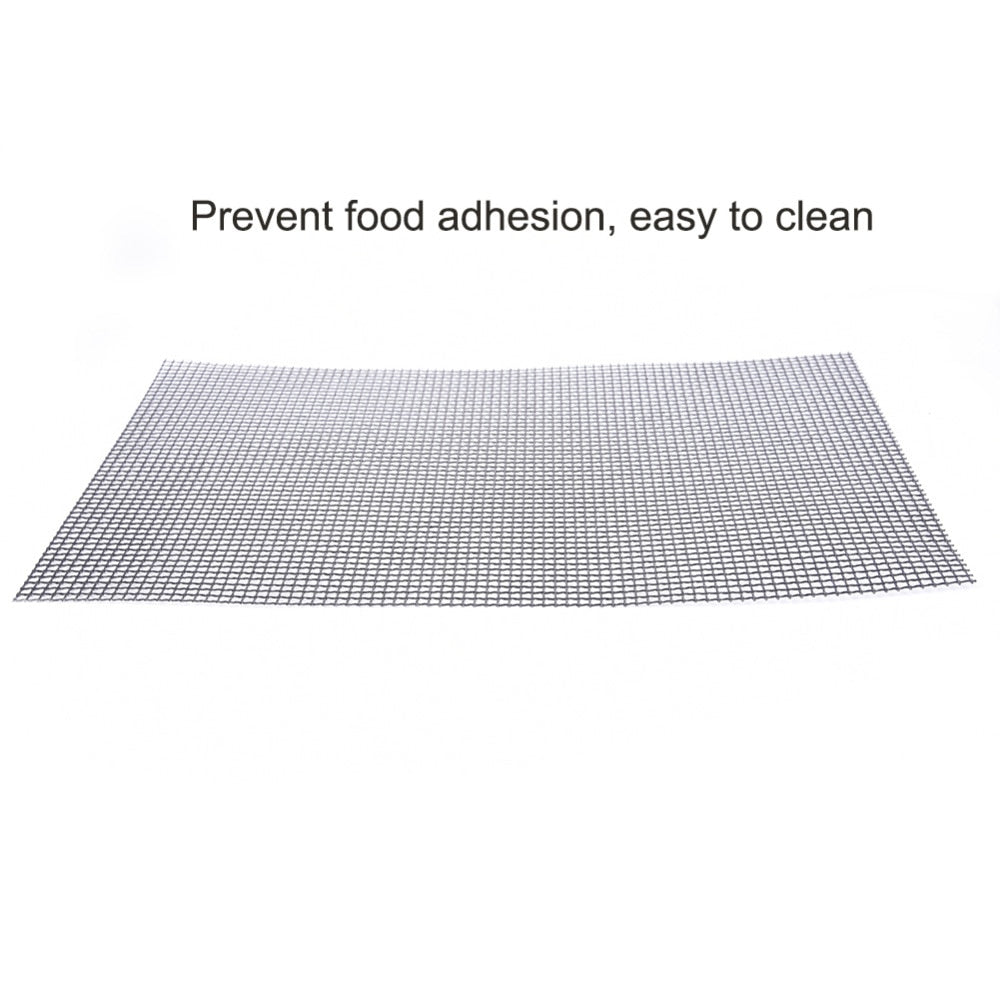Non Stick BBQ Mesh Grill Mat Cooking Sheet Churrasco Barbecue Liner Roaster Tools 30*40cm