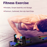 Push Up Rack Board Men Women Body Building Fitness Exercise Tool Stand For GYM Training Equipment Kit - JustgreenBox
