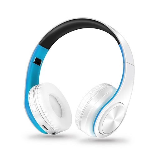 HIFI stereo earphones bluetooth headphone music headset FM and support SD card with mic for mobile xiaomi iphone sumsamg tablet - JustgreenBox