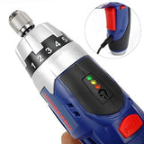 3.6V Cordless Screwdriver Fold-able Electric Screwdriver Rechargeable Screwdriver with Work Light - JustgreenBox
