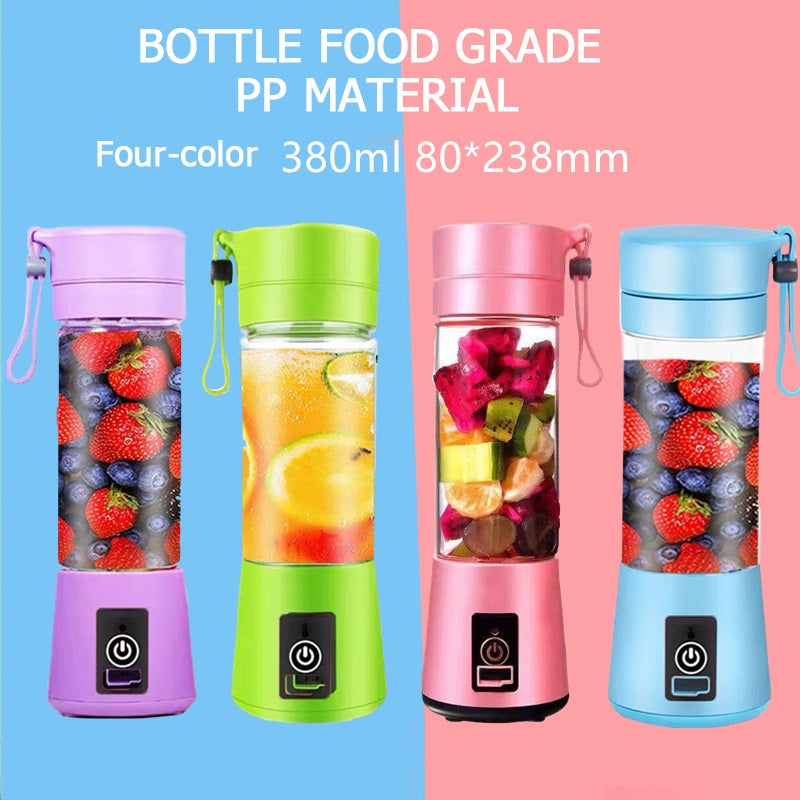 380ml Portable Juicer Electric USB Rechargeable Smoothie Blender Machine Mixer Mini Juice Cup Maker fast Blenders food processor