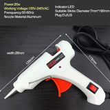 6 IN 1 Glue Gun Set Electric Heat Hot Melt Crafts Repair Tool Professional DIY 110-240V 20W With Sticks - JustgreenBox