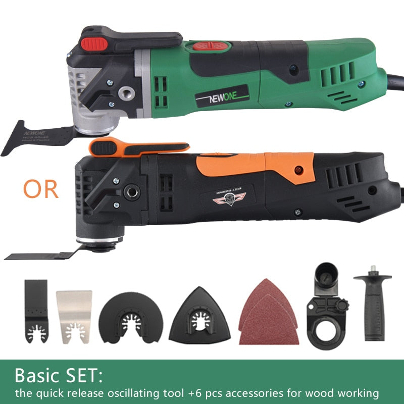 350W Quick Release Electric Power Variable Speed Rotating Oscillating Multi-Tool Kit Multi-Function (Basic Set) - JustgreenBox