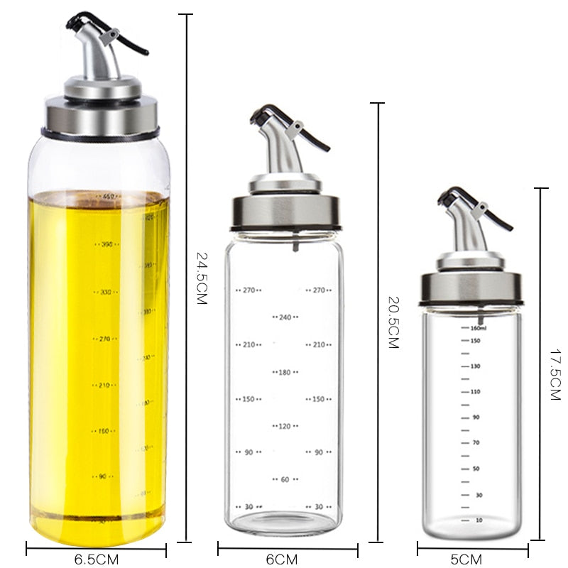 Cooking Seasoning Bottle Dispenser Sauce Glass Storage Bottles For Oil And Vinegar Creative Kitchen Tools Accessories - JustgreenBox