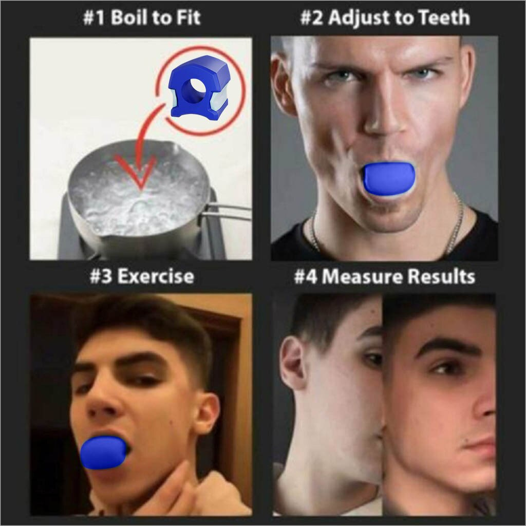 Jawline Exerciser Facial Toner Anti-wrinkle Muscle Jaw Trainer Chews Device Face-lift Artifact Beauty