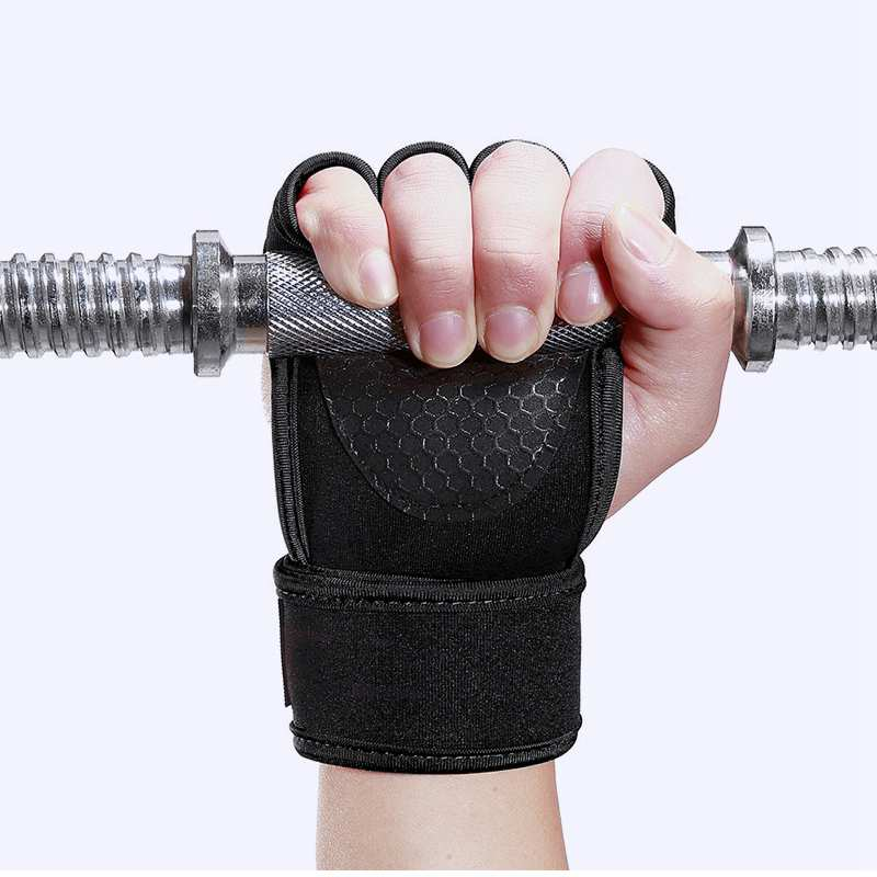 1 Pair Weight Lifting Training Gloves Women Men Fitness Sports Body Building Gymnastics Grips Hand Palm Protector - JustgreenBox