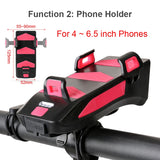 4 In 1 Bicycle Light Bike Horn,Phone Holder, Power Bank, Cycling Front MTB