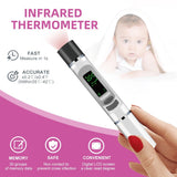 Mini Portable Non-Contact Infrared Thermometer 1S Quick Measurement Body / Room / Objects' Surface 3 Temperature Modes Home/Office/Traval Use for Baby Adult ( Deliver without Battery)