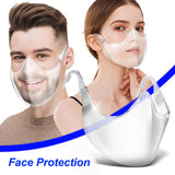 Transparent Full Face Mask Sport Perfect Fit for Face Reusable Washable
