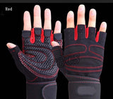 Half Finger Gym Gloves Heavyweight Sports Exercise Lifting BodyBuilding Training Fitness - JustgreenBox