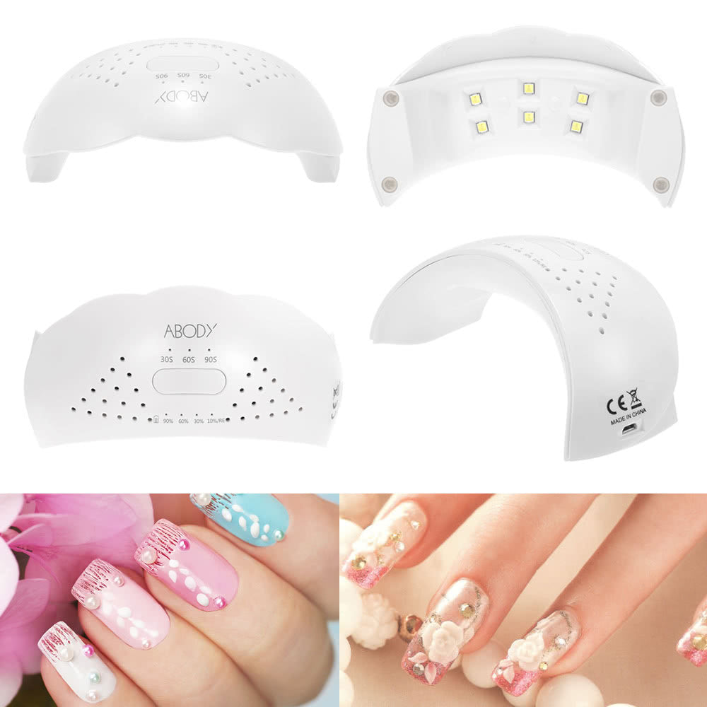 Abody 12W LED UV Lamp Cordless Nail Dryer Fingernail & Toenail Nail Curing Machine Nail Art Painting Salon Tool EU Plug