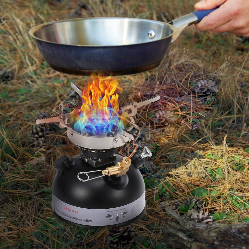 Portable Outdoor Camping Mini Gasoline Stove Liquid Fuel Alcohol Diesel Oil Stove