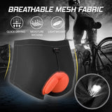 Women's Cycling Shorts 3D Padded Bicycle Bike Underwear Shorts Breathable Quick Dry Shorts