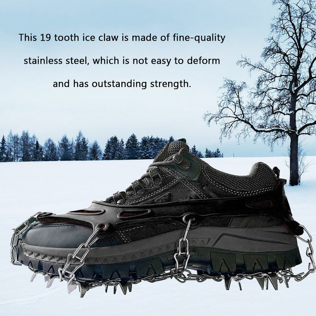19 Tooth Ice Claw Stainless Steel Ice Claw Snow Antiskid Shoe