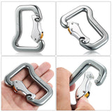 Outdoor Safety Rock Climbing Equipment Master Hook 18KN Paragliding Paraglider Parachute Clip Locking Carabiner