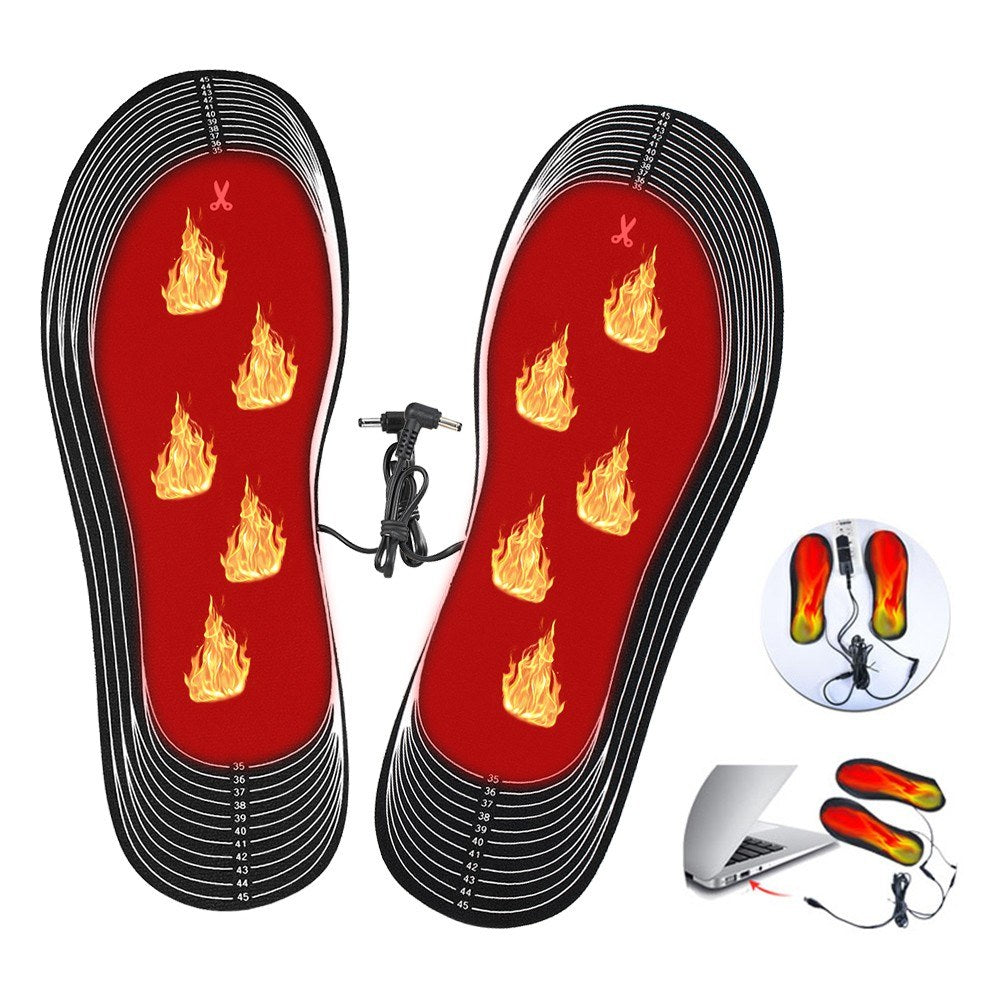 Electric Heating Insoles Electric Foot Warmer Washable Heating Insoles Cuttable Thermal Insoles