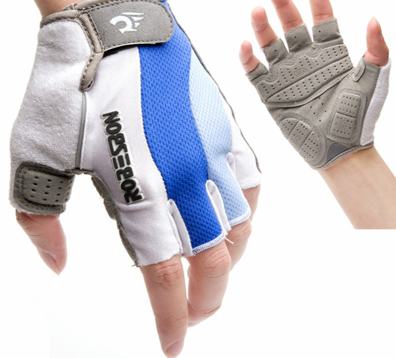 Short Half Finger Motorcycle MTB Road Bike Gloves Breathable Outdoor Anti Slip Gel Pad - JustgreenBox